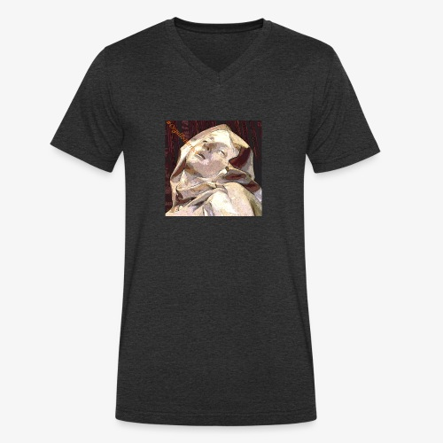 #OrgulloBarroco Teresa - Camiseta ecológica hombre con cuello de pico de Stanley & Stella