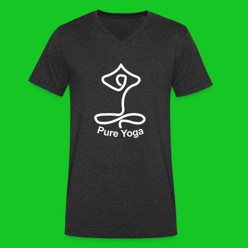 Pure Yoga - Mannen bio T-shirt met V-hals van Stanley & Stella