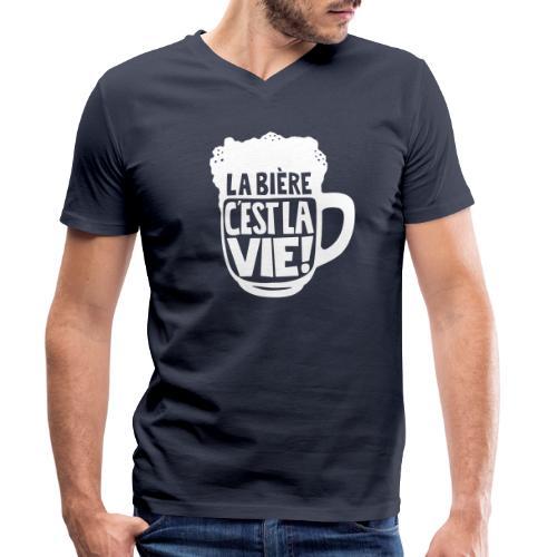 bière, la bière c'est la vie - T-shirt bio col V Stanley & Stella Homme