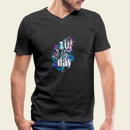 Tu-es-day Türkis - Männer Bio-T-Shirt mit V-Ausschnitt von Stanley & Stella