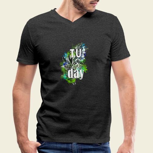 Tu-es-day Grün - Männer Bio-T-Shirt mit V-Ausschnitt von Stanley & Stella