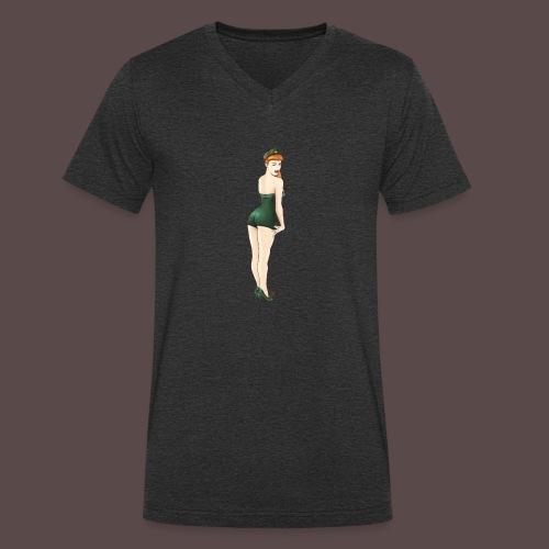 Pin-up Army, Yes Sir? - T-shirt ecologica da uomo con scollo a V di Stanley & Stella