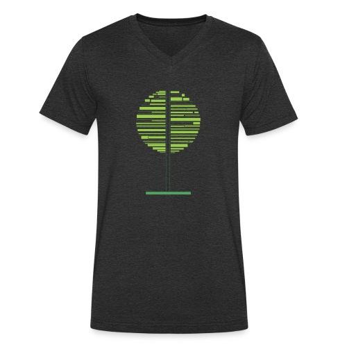 Zielone drzewo - Ekologiczna koszulka męska z dekoltem w serek Stanley & Stella