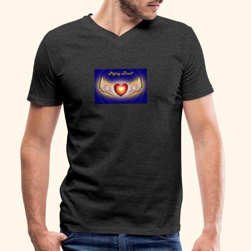 Flying Heart - Männer Bio-T-Shirt mit V-Ausschnitt von Stanley & Stella
