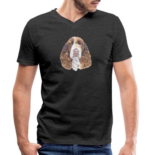 engelsk Springer Spaniel - Økologisk Stanley & Stella T-shirt med V-udskæring til herrer