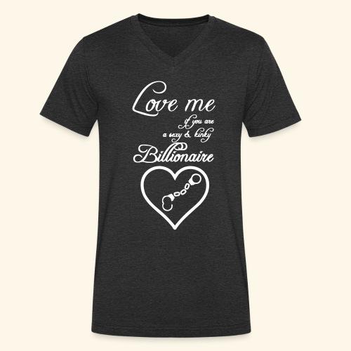Billionaire Love - Men's Organic V-Neck T-Shirt by Stanley & Stella