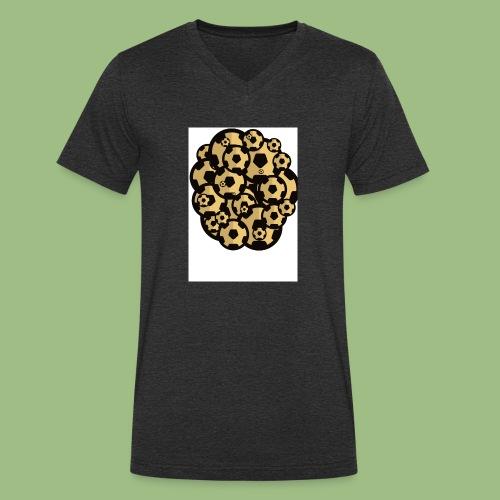 Fotball of footballs - Ekologisk T-shirt med V-ringning herr från Stanley & Stella