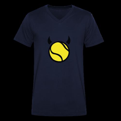 Teufel Schwarz - Männer Bio-T-Shirt mit V-Ausschnitt von Stanley & Stella