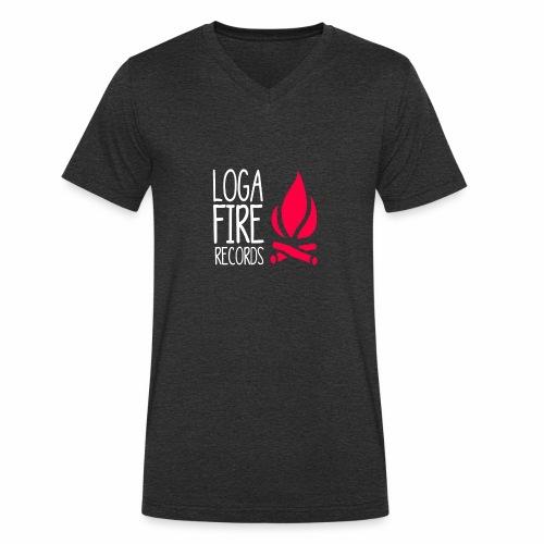 LOG A FIRE RECORDS LOGO - Männer Bio-T-Shirt mit V-Ausschnitt von Stanley & Stella