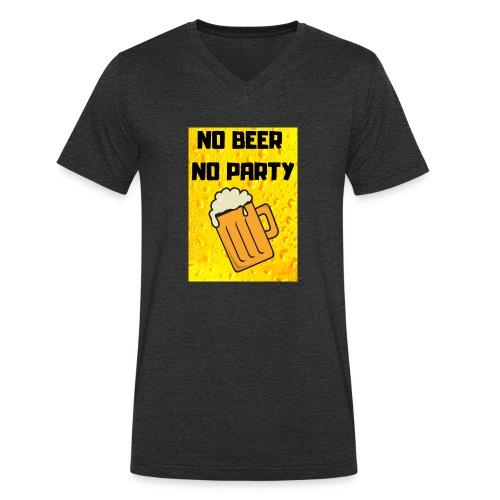 No beer no party - T-shirt ecologica da uomo con scollo a V di Stanley & Stella