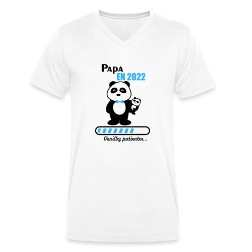 Papa en 2022 - Men's Organic V-Neck T-Shirt by Stanley & Stella