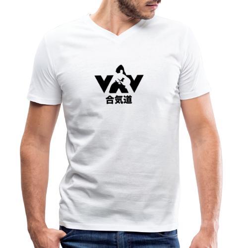 aikido zwart - Mannen bio T-shirt met V-hals van Stanley & Stella