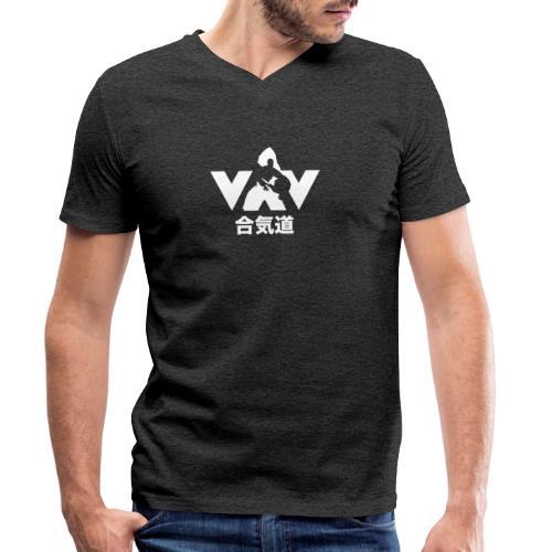 Aikido - Mannen bio T-shirt met V-hals van Stanley & Stella