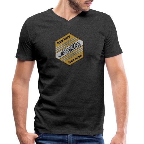 jesus 6eck - Männer Bio-T-Shirt mit V-Ausschnitt von Stanley & Stella