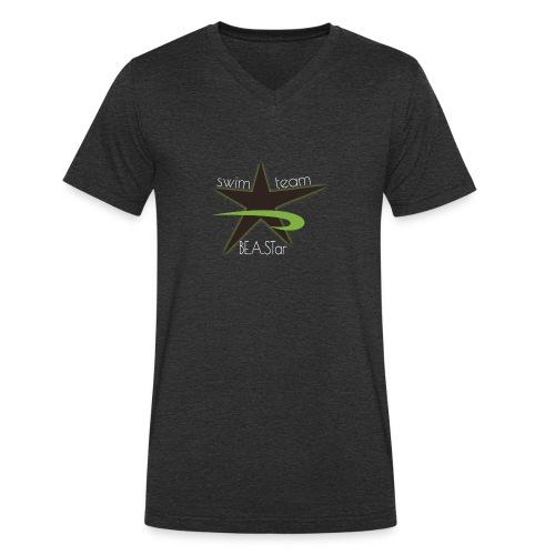 BeAStar BeAStar noStar grey green dark - Männer Bio-T-Shirt mit V-Ausschnitt von Stanley & Stella