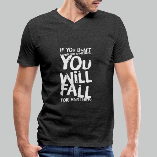 Stand, don't fall - Men's Organic V-Neck T-Shirt by Stanley & Stella