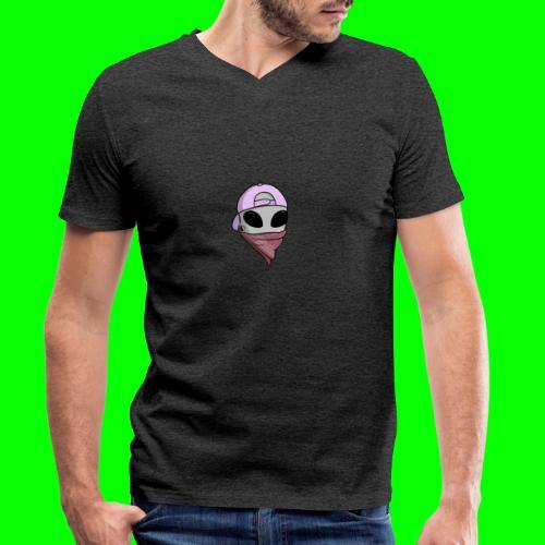 gangsta alien logo - T-shirt ecologica da uomo con scollo a V di Stanley & Stella