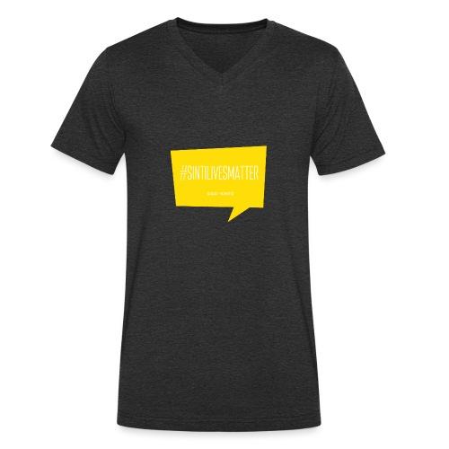 Sinti Lives Matter - Men's Organic V-Neck T-Shirt by Stanley & Stella