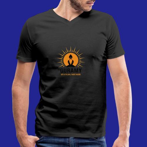 final nero con scritta - Men's Organic V-Neck T-Shirt by Stanley & Stella