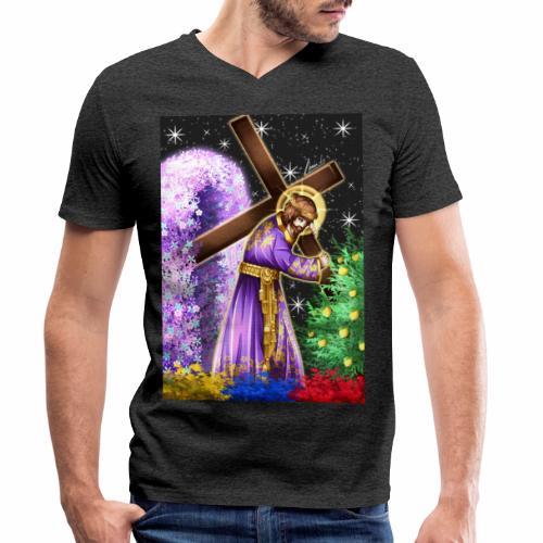 Jesús de Nazareno - Camiseta ecológica hombre con cuello de pico de Stanley & Stella