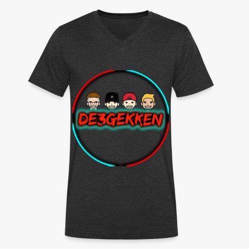 De3gekken - Mannen bio T-shirt met V-hals van Stanley & Stella