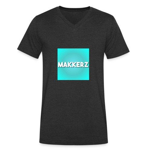 Makkerz Logo 2 - Men's Organic V-Neck T-Shirt by Stanley & Stella