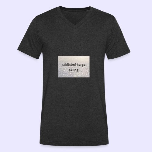 addicted to go skiing - Männer Bio-T-Shirt mit V-Ausschnitt von Stanley & Stella