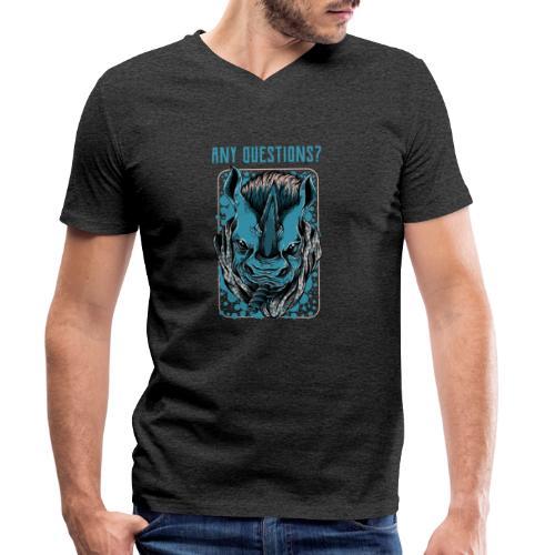 any questions - Männer Bio-T-Shirt mit V-Ausschnitt von Stanley & Stella
