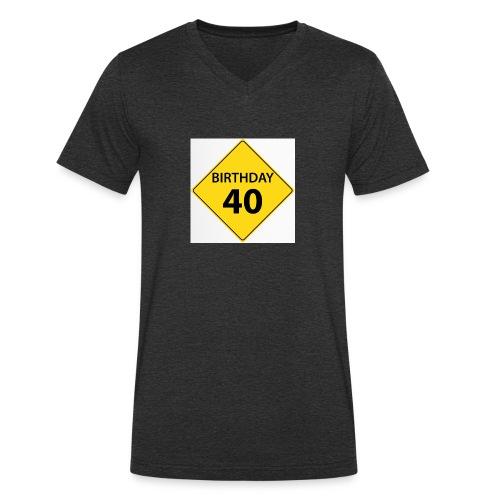 motive shield birthday 40 40 - Ekologisk T-shirt med V-ringning herr från Stanley & Stella