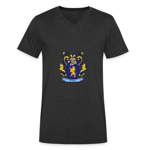Evans Family Crest - Men's Organic V-Neck T-Shirt by Stanley & Stella