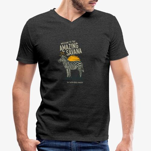 Zèbre - T-shirt bio col V Stanley & Stella Homme
