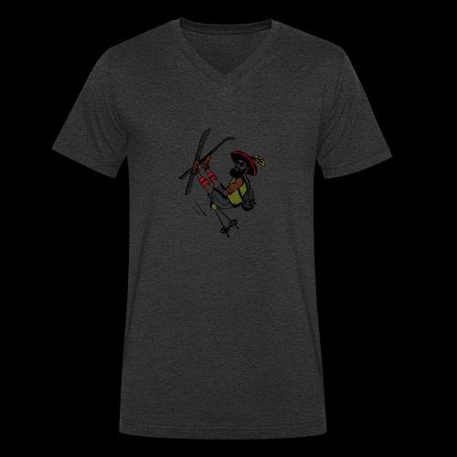 Freestyler mit Lederhosen - T-shirt ecologica da uomo con scollo a V di Stanley & Stella