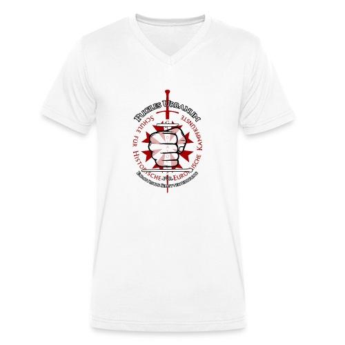 Logo frei PUR mitWa trans - Männer Bio-T-Shirt mit V-Ausschnitt von Stanley & Stella
