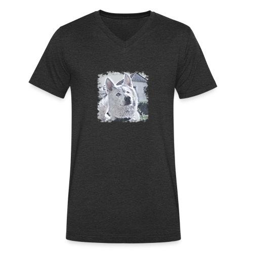 Pass auf - Männer Bio-T-Shirt mit V-Ausschnitt von Stanley & Stella