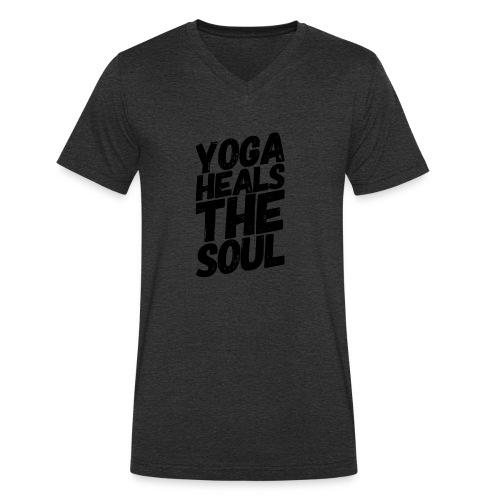 yoga heals the soul - Mannen bio T-shirt met V-hals van Stanley & Stella