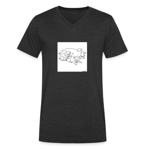 Cochon de lait. - T-shirt bio col V Stanley & Stella Homme