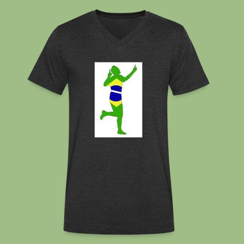 Neymár Brazil - Ekologisk T-shirt med V-ringning herr från Stanley & Stella