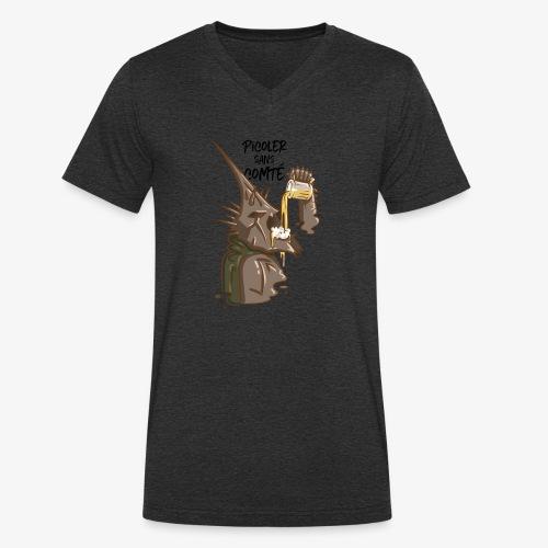 Picoler sans Comté ! - T-shirt bio col V Stanley & Stella Homme