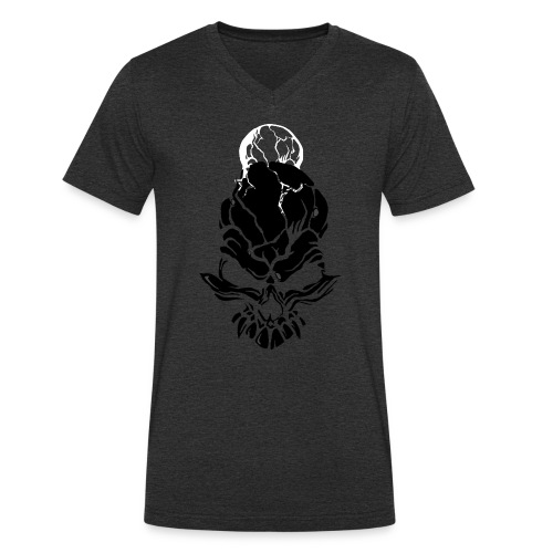 F noize fronte png - Men's Organic V-Neck T-Shirt by Stanley & Stella