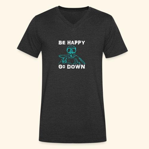 BeHappy001 - Mannen bio T-shirt met V-hals van Stanley & Stella