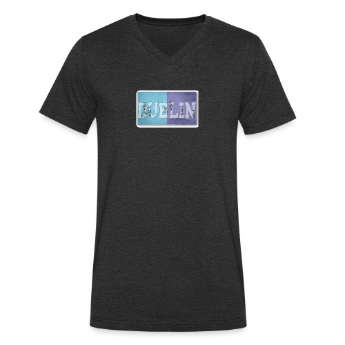 Dublin Distressed Flag T-Shirt - Men's Organic V-Neck T-Shirt by Stanley & Stella