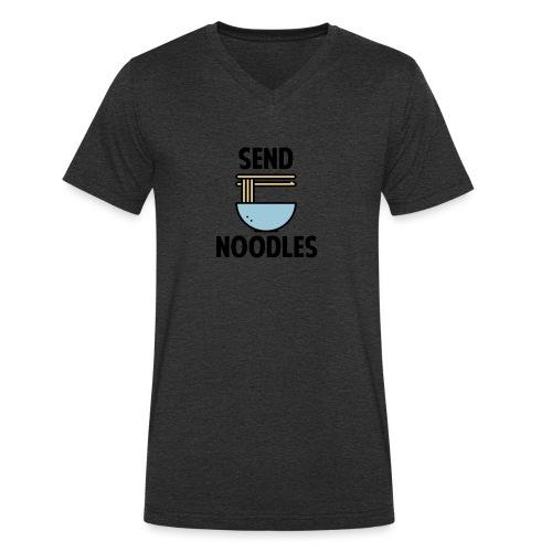 Send Noodles - Mannen bio T-shirt met V-hals van Stanley & Stella