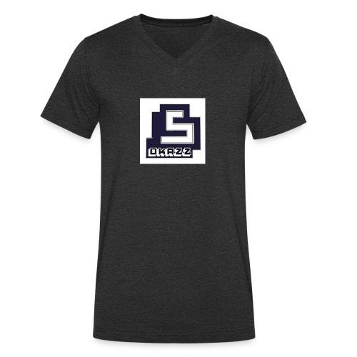 SOKAZZ LOGO - Økologisk T-skjorte med V-hals for menn fra Stanley & Stella