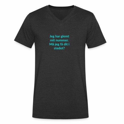Jeg har glemt mit nummer - Økologisk Stanley & Stella T-shirt med V-udskæring til herrer