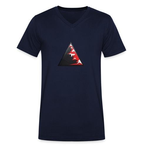 Climb high as a mountains to achieve high - Men's Organic V-Neck T-Shirt by Stanley & Stella