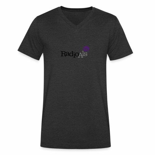 RadioAls Logo CMYK - Økologisk Stanley & Stella T-shirt med V-udskæring til herrer
