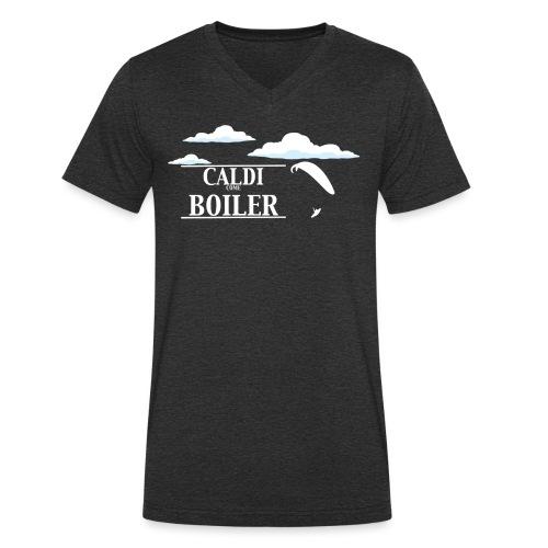 Caldi Come Boiler White - T-shirt ecologica da uomo con scollo a V di Stanley & Stella