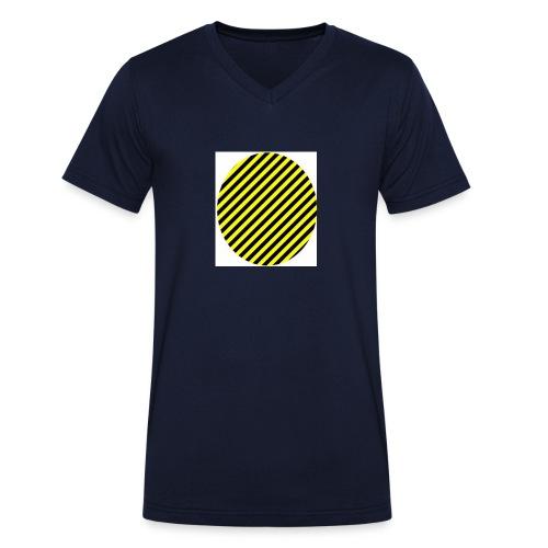 varninggulsvart - Ekologisk T-shirt med V-ringning herr från Stanley & Stella