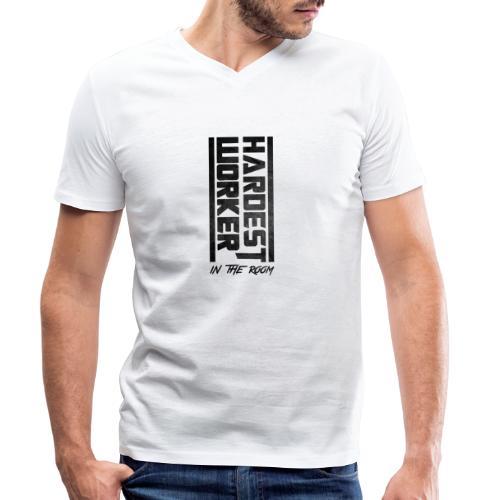 Hardest Worker - Männer Bio-T-Shirt mit V-Ausschnitt von Stanley & Stella