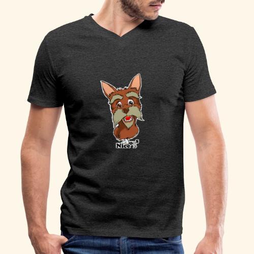 Nice Dogs schnauzer - T-shirt ecologica da uomo con scollo a V di Stanley & Stella